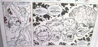 Todd McFarlane Original Hulk 332 Art Page w Sketch