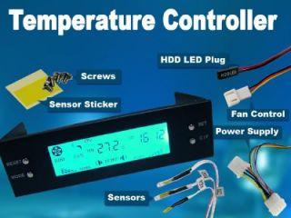 PC Desktop CPU VGA HDD Fan Rotation Speed Heat Control Temperature Controller