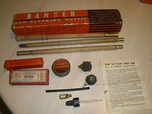 Vintage Gun Cleaning Outfit  Roebuck Co Ranger Cleaning Kit Hunting