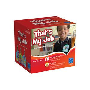 That's My Job Classroom Responsibility Badges Student Job Chart Teacher Supply