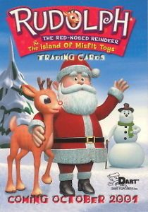 Rudolph Red Nosed Reindeer Island of Misfit Toys 2001 Dart Promo Card C C