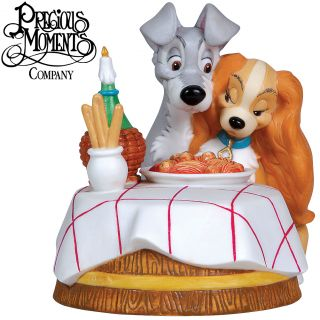 New Precious Lady and The Tramp Disney Figure Captures Romantic Dinner Scene