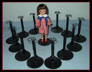"Free U s Shipping 12 Black 8"" Tiny Betsy McCall Kaiser Doll Stands Fit Kickits"
