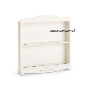 American Girl MYAG Mini Doll Display Shelf Storage Furniture White Doll Stand