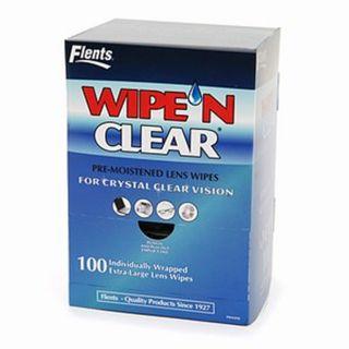 Flents Wipe N Clear Pre Moistened Lens Wipes 100 Ea