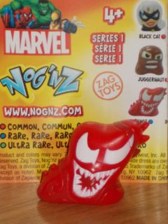 2012 Zag Marvel Nog'NZ Series 1 Carnage Collectible RARE Miniature Game Figure