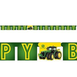 john deere jointed banner birthday party supplies 206230