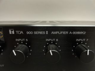 Toa 900 Series II Commercial Audio Power Amplifier Amp A 906MK2 A 906 MK2 2