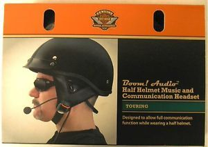 Harley Davidson Boom Audio Half Helmet Music and Communications Headset New