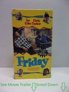 Friday VHS Pot Smoking Comedy Movie Tape Ice Cube Chris Tucker See Movie Trailer