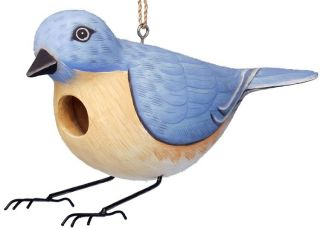 Birdhouse Bluebird Shaped Wood Bird House