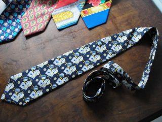 Leonard Paris Hand Made Silk Necktie Tie Air Balloons and Compasses