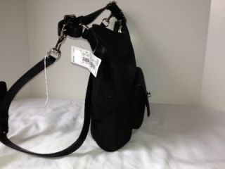 Coach Black Black Legacy Signature Courtney Hobo Bag Purse Tote 22392