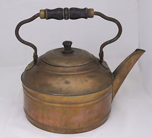 From Estate Large Old Copper Coffee Tea Pot Kettle