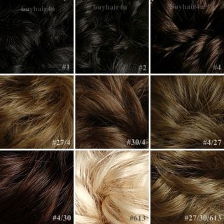 Stylish Dish Hair Bun Wig Updo Scunchies Ponytail Accessories Hairpiece New s L