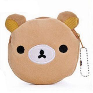 Portable Cute Cartoon Bag Change Coin Purse Case Plush Purse Handbag Girl Women