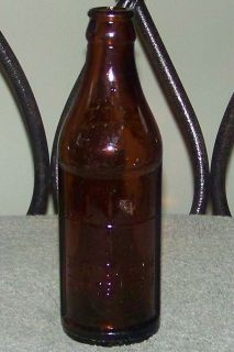 Old Embossed Certo Fruit Pectin Amber Glass Bottle with Upside Down Measurments