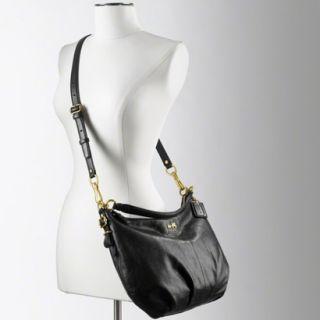 Coach Madison Leather Convertible Hobo Black 15959