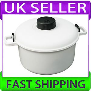 New Microwave Pressure Cooker Steamer Vegetables Rice Pasta Cooking Pot Pan