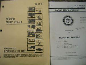 New US Military Tent Repair Kit Complete USMC