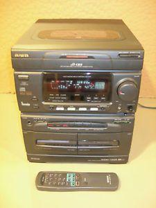 Aiwa NSX 3500U Digital Audio Component System 3CD Changer Dual Tape Am FM Stereo