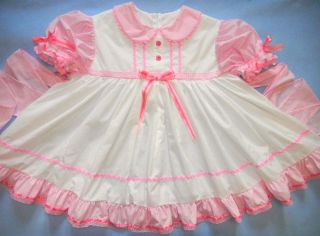 Cotton Candy Dress Adult Baby Sissy One of A Kind Custom Made