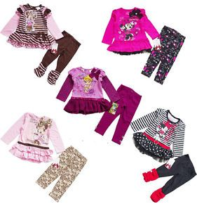 Girl Clothes Baby Costume Top Dress Pants Outfit Sz 1 4Y Legging Fall Set