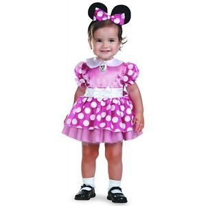 Minnie Mouse Baby Infant Girls Pink Disney Clubhouse Halloween Costume
