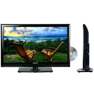 "19"" Full HD LCD Digital TV Tuner Television Built in DVD Player AC DC HDMI 12V"