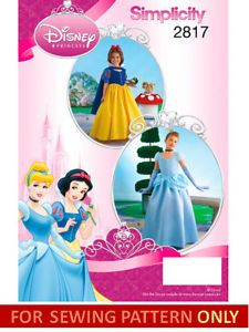 Sewing Pattern Make Snow White Cinderella Costume Princess Child 3 Girl 14