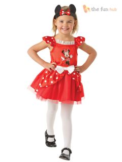 Disney Minnie Mouse Ballerina Tutu Costume Girls Toddler Baby Fancy Dress Outfit