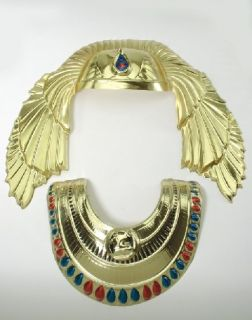 Egyptian King Tut Hat Necklace Pharoah Costume Collar Gold