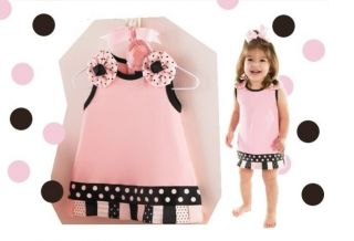 Baby Girl Little Pink Princess Dress Ribbon Perfect for Party 12M 18M 24M