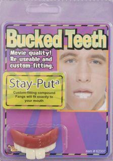 Nerd Dork geeky Buck Teeth Halloween Costume Accessory