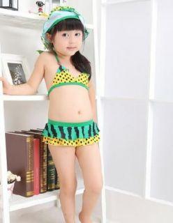 Girls Kids Watermelon Swimwear Tankini Swimsuit Bikini Bathing Sz 2 8Y Costume