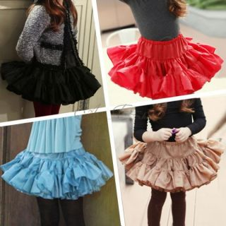 Girl Kid Christmas Birthday Party Dance Tutu Skirt Sz 2 6Y Pageant Dress Costume