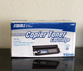 Quill Compatible Copier Toner Cartridge Canon E40 PC700 PC900 7 53102 New