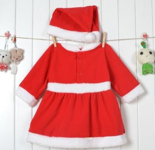 New Baby Boys Girls Christms Xmas Santas Party Suit Costume Dress Outfit Gift