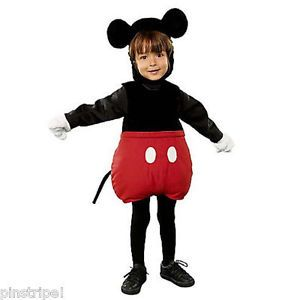 Disney Exclusive Mickey Mouse Plush Costume Toddler Infant Costume No Gloves