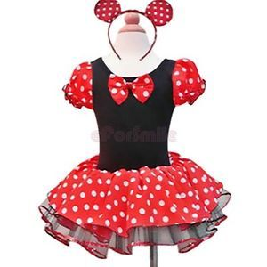 Xmas Disney Minnie Mouse Baby Girl Kid Fancy Party Costume Dress Up Gift Sz 2 10