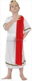 Boys Roman Emperor Greek Toga Julius Caesar Fancy Dress Up Costume