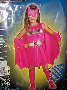 Rubie's Batgirl Costume Size 4 6 Age 3 4 Color Pink New