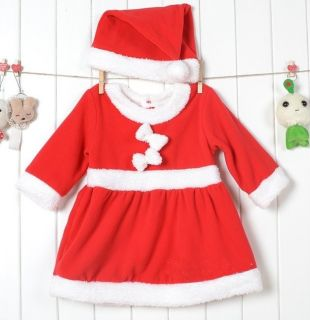 Lovely Baby Boys Girls Xmas Santas Party Suit Costume Formal Dress Outfit Gift