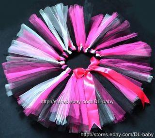 Pink Black Party Costume Girl Toddler Child Baby Dance Ballet Skirt Tutu 0 5T