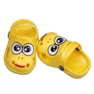 1x Yellow Infant Kids Boys Girls Big Eye Cartoon Unisex Sandal Shoes Slpper US 8