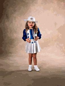 Toddler Girls Dallas Cowboys Cheerleader Costume 1 2yrs
