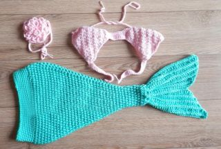Newborn Baby Girl Boy Crochet Knit Costume Costume Photo Photography Prop Outfit