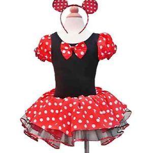 Girl Baby Disney Minnie Mouse Tutu Dress Halloween Costume Party Ballet Toddler