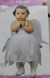 Halloween Toddler Baby White Angel Costume Size Up to 24 Months 20 Lbs