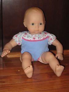 "American Girl Bitty Baby 15"" Doll Blonde Hair Blue Eyes"